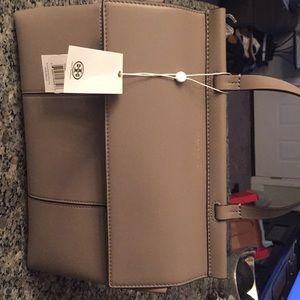 Tory Burch Block T Satchel grey Heron
